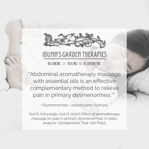 Research into massage for dysmenorrhea (painful periods)